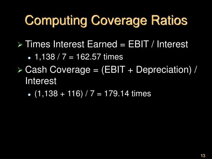Computing Coverage Ratios
