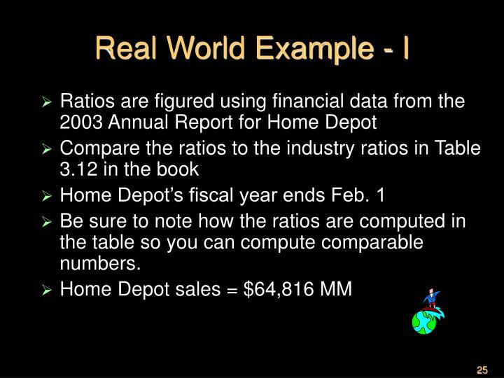Real World Example - I