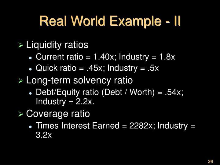 Real World Example - II