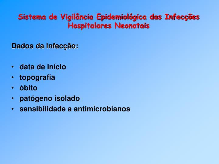 Sistema de Vigilância Epidemiológica das Infecções Hospitalares Neonatais
