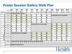 poster session gallery walk plan