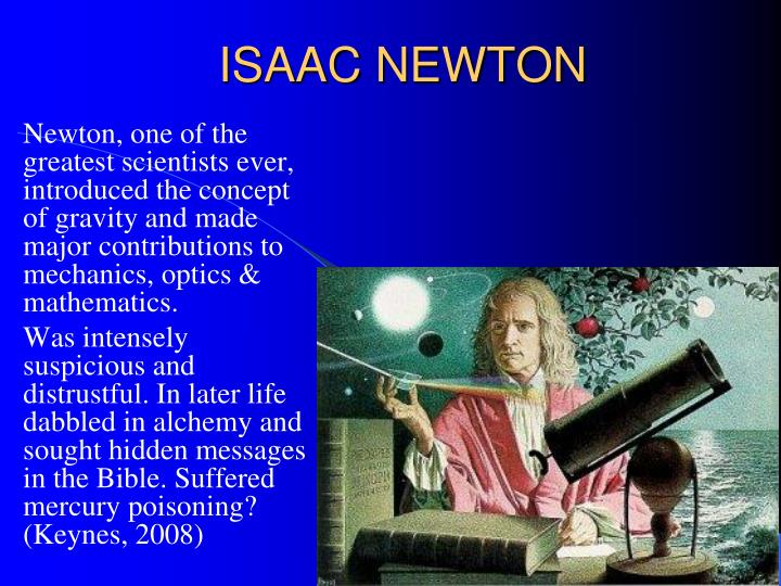 isaac newton mercury poisoning