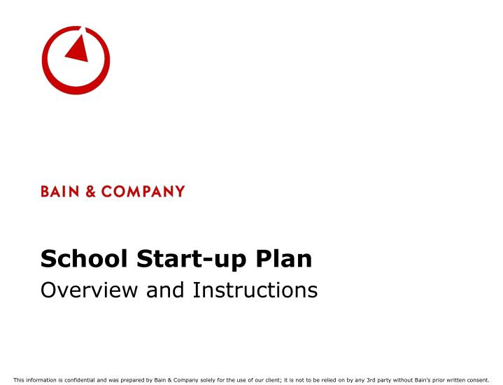 school start up plan n.