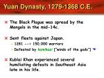 yuan dynasty 1279 1368 c e