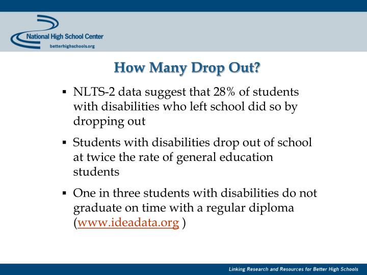 How many drop out