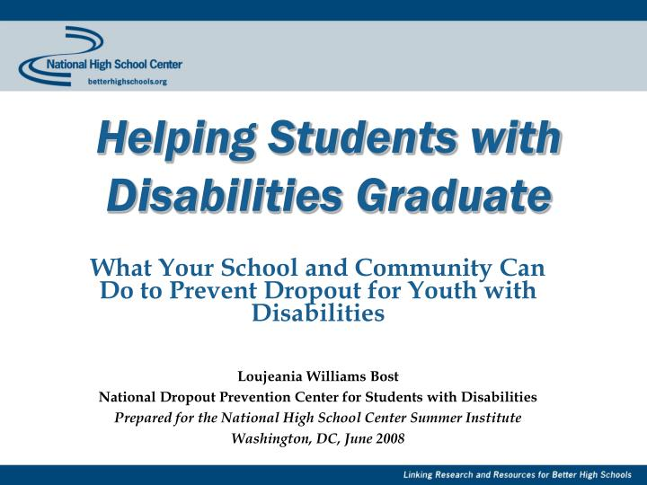 Helping Students with Disabilities Graduate