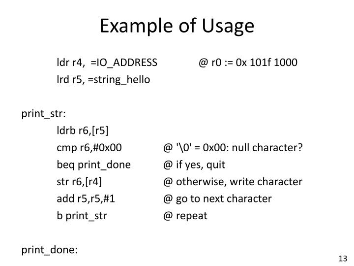 Example of Usage