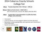 2014 cabarrus county schools college fair