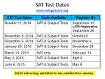 sat test dates www collegeboard org