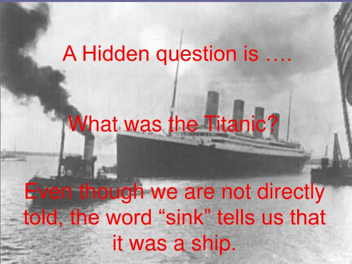A Hidden question is ….