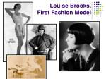 louise brooks first fashion model