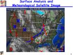 surface analysis and meteorological satellite image