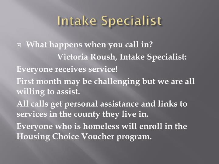 Intake Specialist