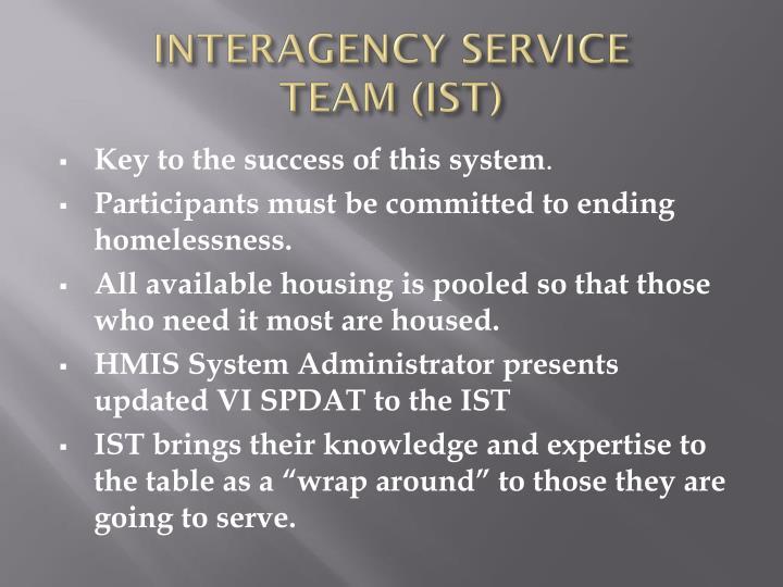 INTERAGENCY SERVICE