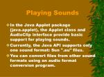 playing sounds