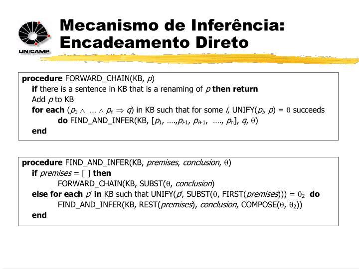 Mecanismo de Inferência: