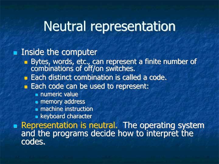 Neutral representation