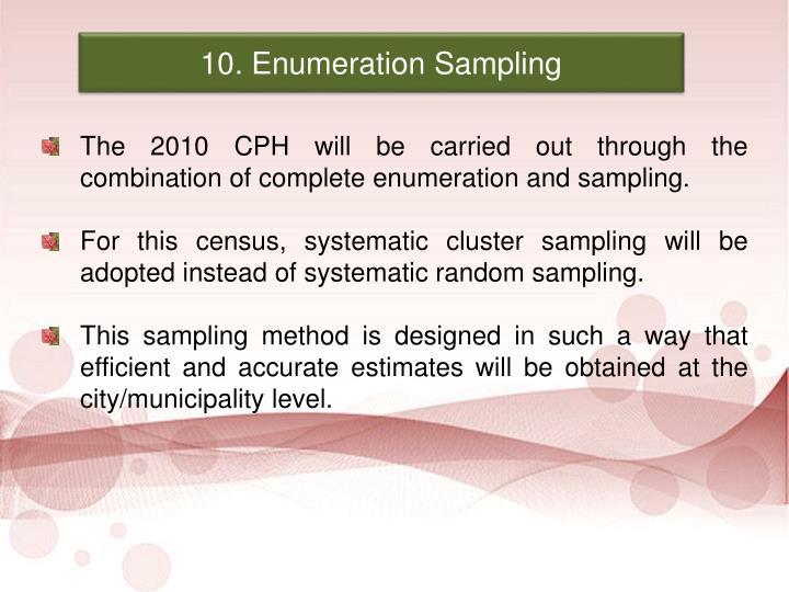 10. Enumeration Sampling