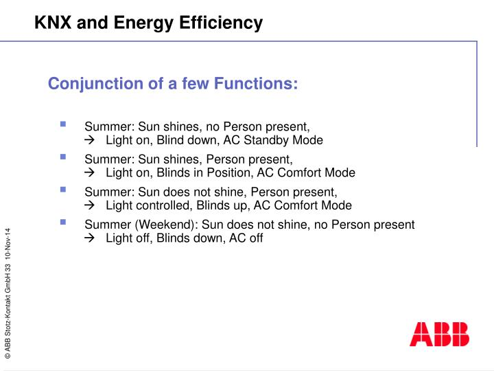 Conjunction of a few Functions: