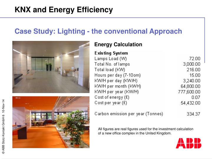 Case Study: Lighting - the conventional Approach