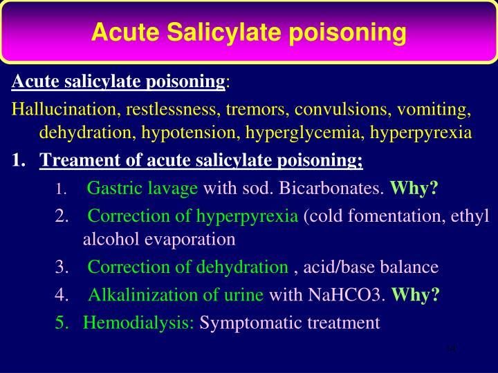 Acute Salicylate poisoning
