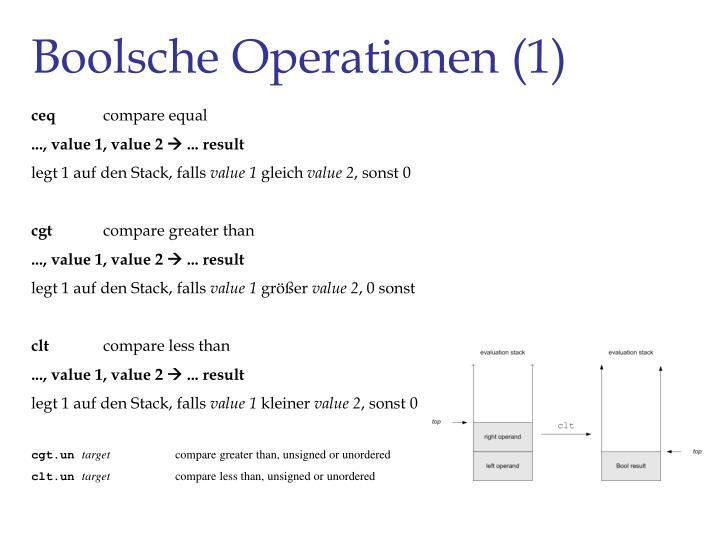 Boolsche Operationen (1)
