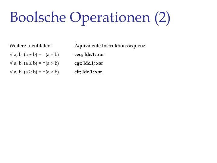 Boolsche Operationen (2)