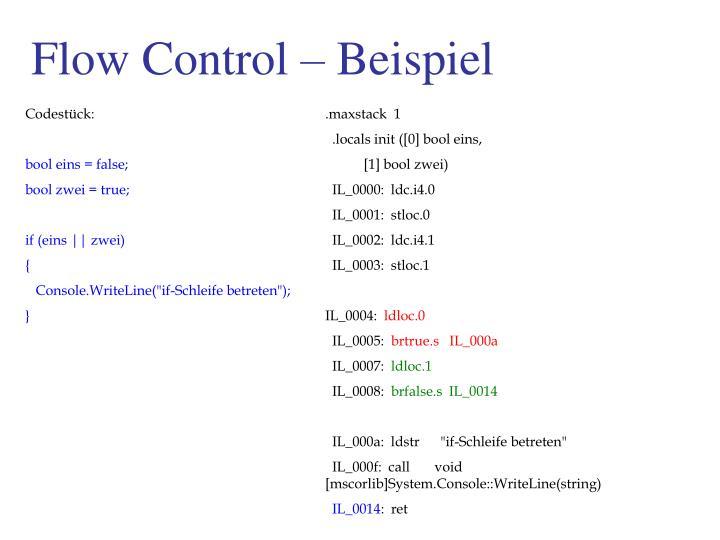 Flow Control – Beispiel