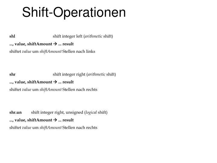 Shift-Operationen