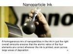 nanoparticle ink