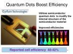 quantum dots boost efficiency