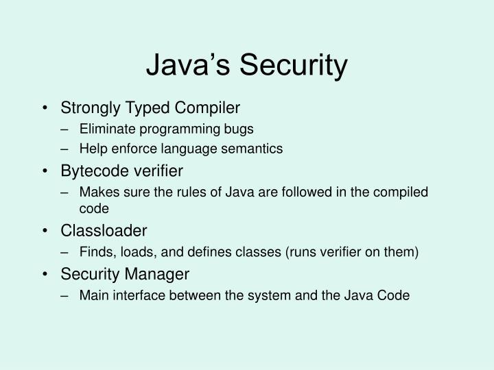 Java s security