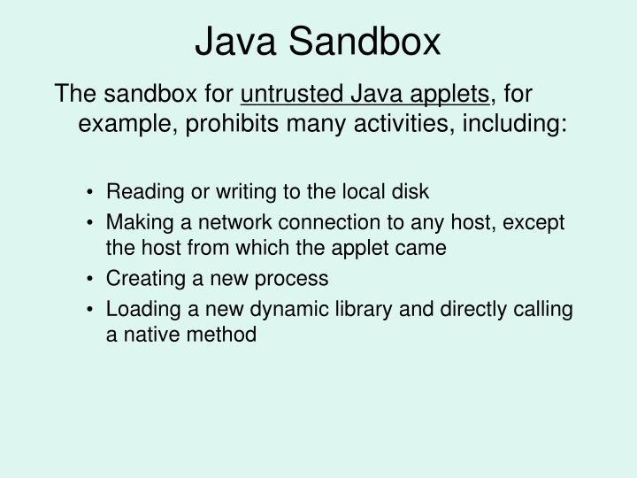 Java Sandbox