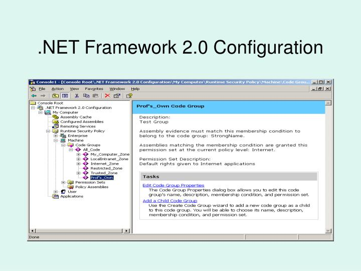.NET Framework 2.0 Configuration