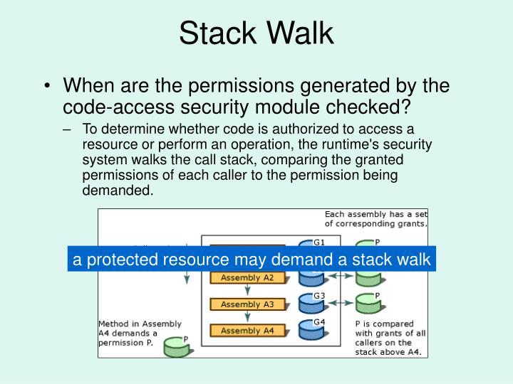 Stack Walk