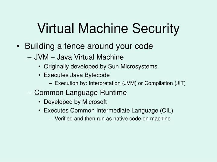 Virtual machine security