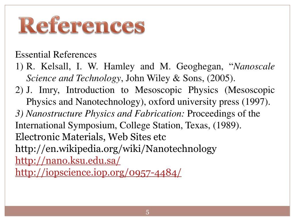 PPT - Nano physics (Phys 4190) PowerPoint Presentation - ID