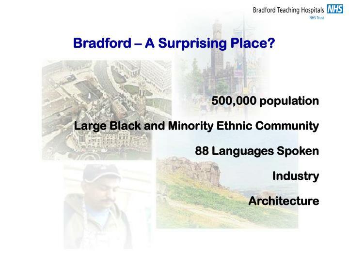 Bradford – A Surprising Place?