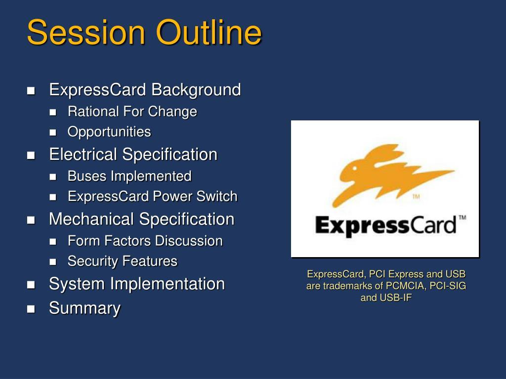 PPT - ExpressCard 201 – PCMCIA's Latest Hot-Plug Technology