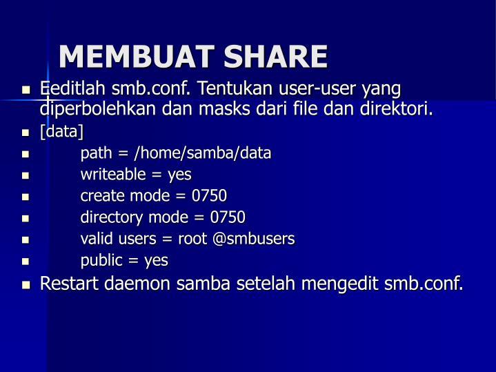 MEMBUAT SHARE