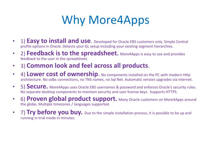 Why More4Apps