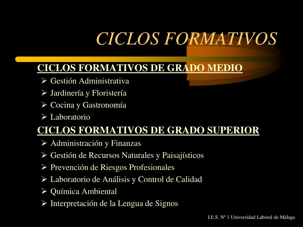 Ppt I E S Nº 1 Universidad Laboral De Málaga Powerpoint