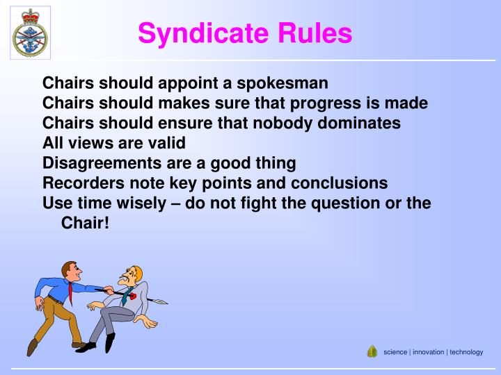 Syndicate Rules