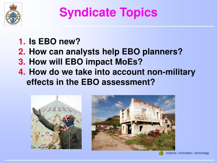 Syndicate Topics