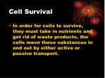 cell survival