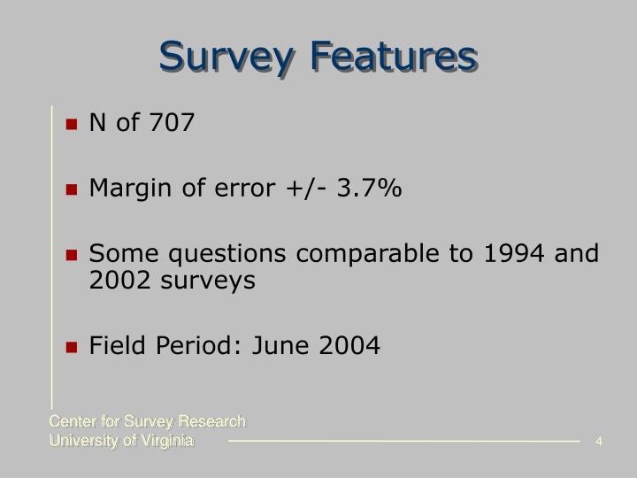 Survey Features