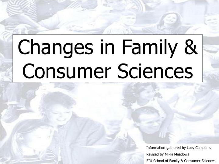 Changes in family consumer sciences