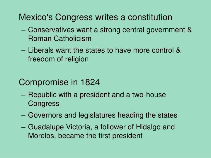 Mexico's Congress writes a constitution