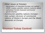 truman takes control1