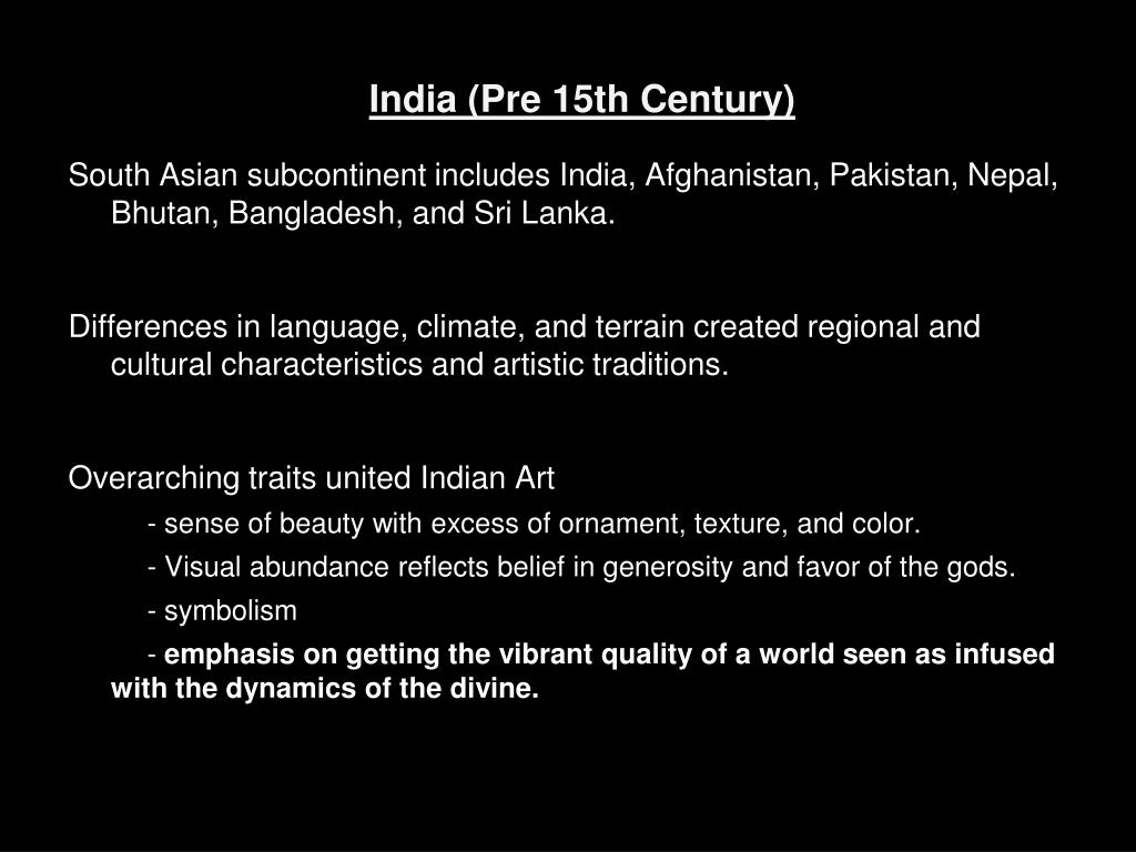 PPT - The Art of the Indian Subcontinent PowerPoint Presentation